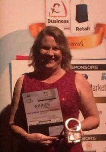 Front Page Web Writing's Janet Camilleri, winner Redland Woman in Business 2016