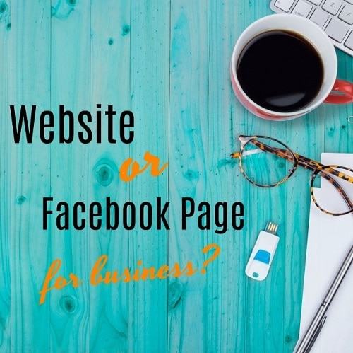 facebook page or website for business