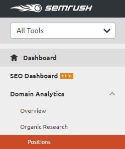 spy on competitors keywords with SEMRUSH