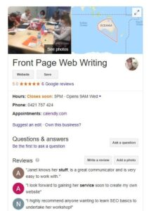 What Google My Business looks like